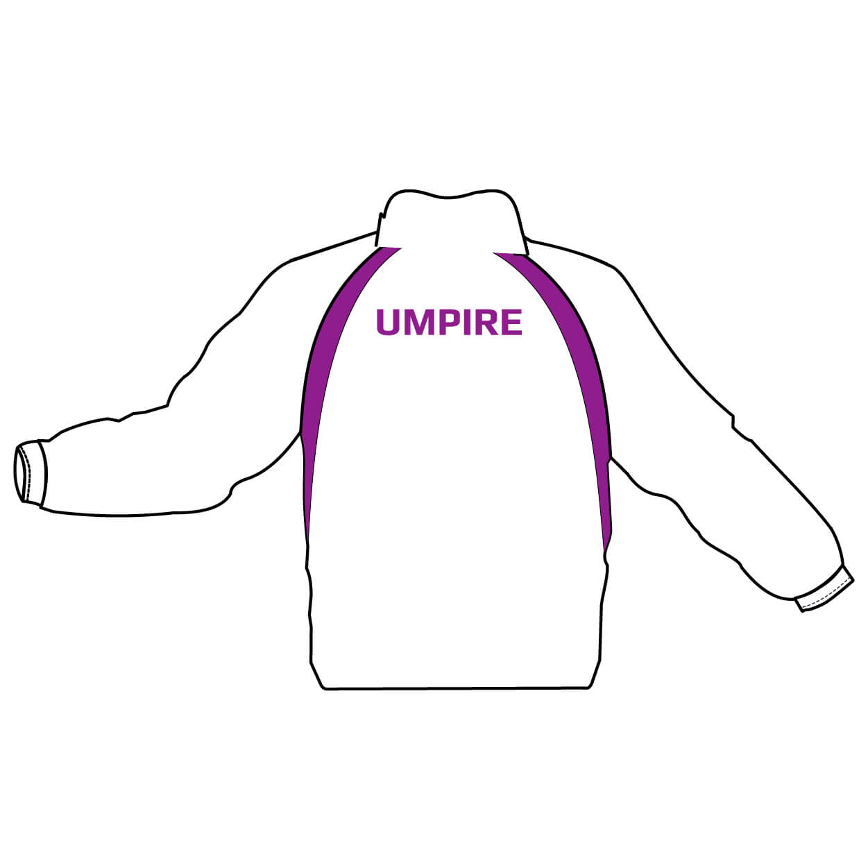 roundwood netball club_Back of Umpire Jackets