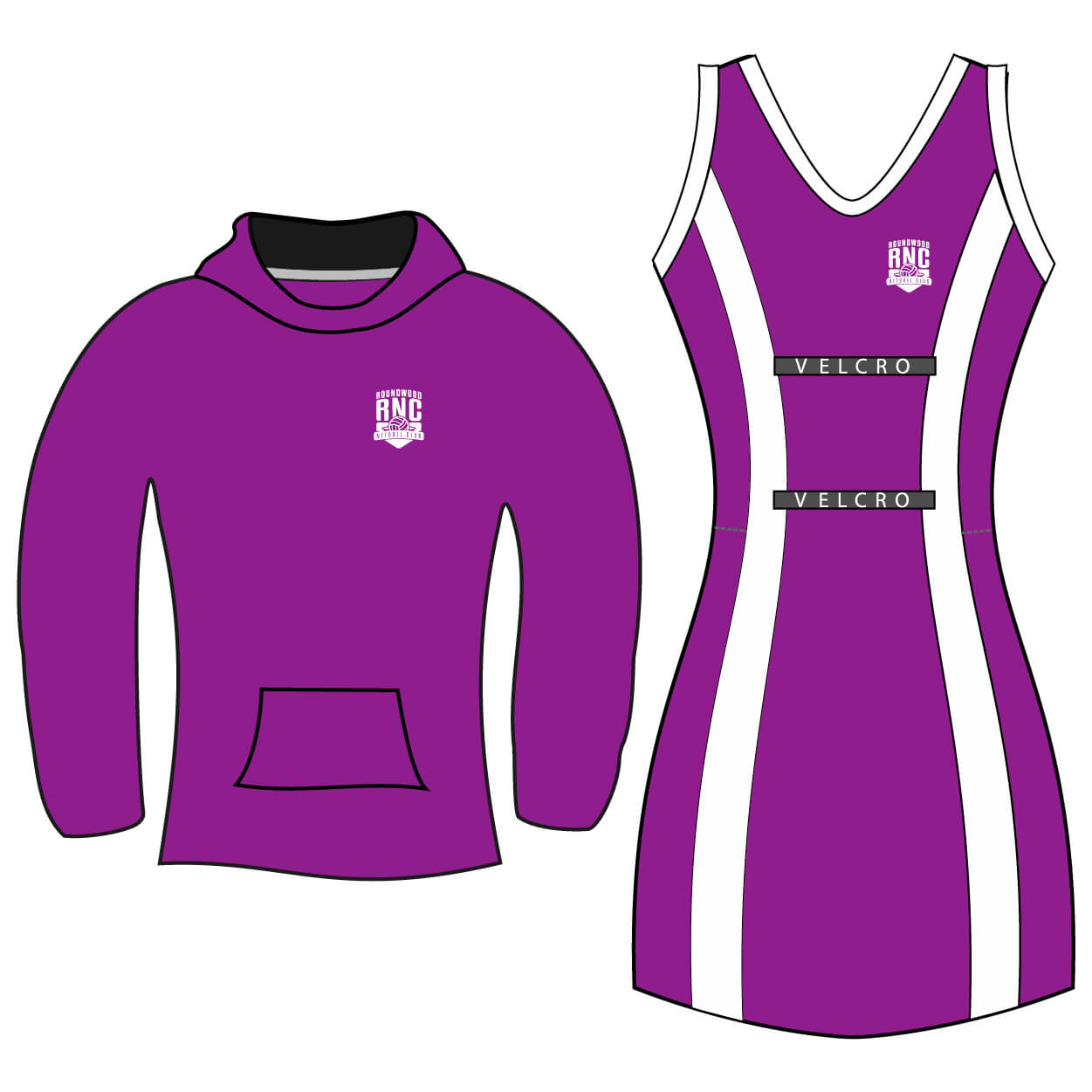 roundwood netball club_Hoodie and Netball Combo juniors