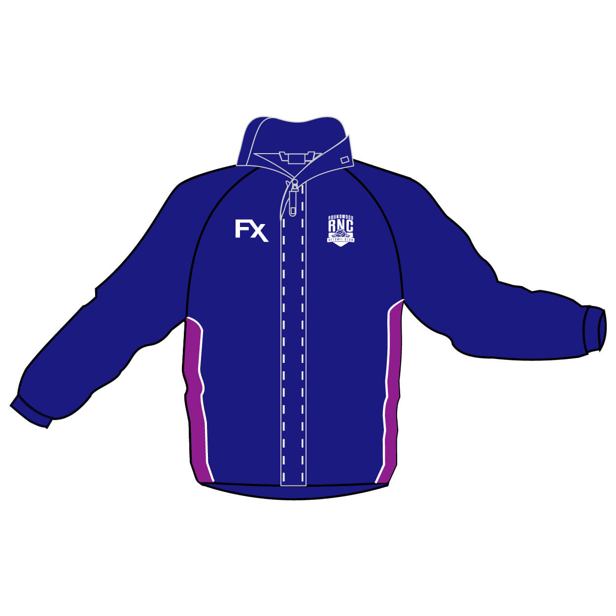 roundwood netball club_Jacket Dipped Hem