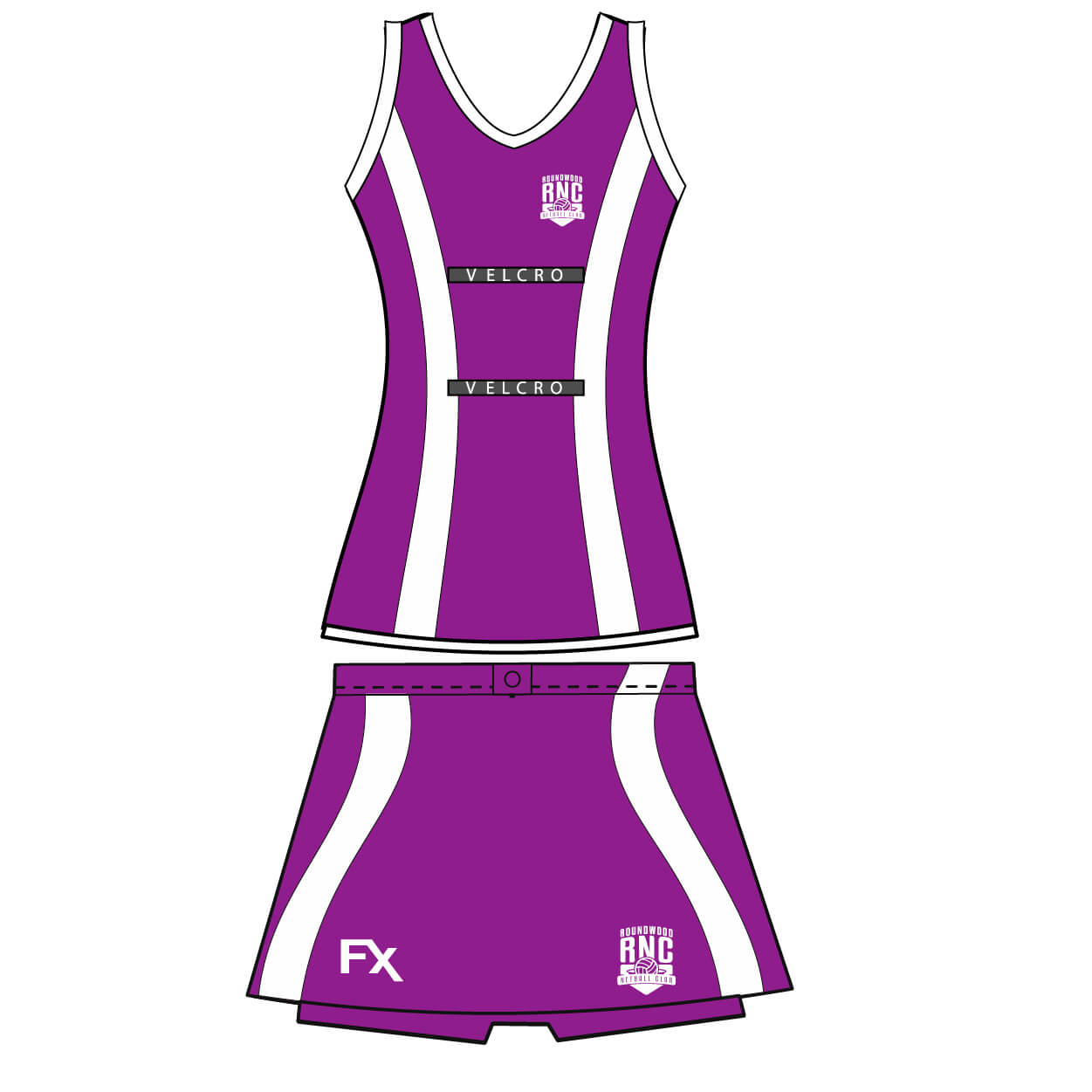 roundwood netball club_Vest and Skort
