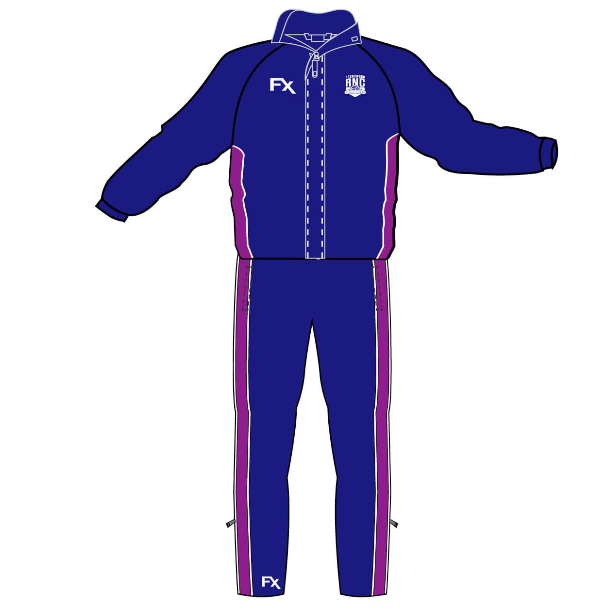 roundwood netball club_Waterproof Fleece and Tracksuit Bottoms
