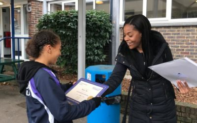 Congratulations to Vanessa Beal for receiving Roundwood Netball Club's Autumn 2019 Jack Petchey Achievement Award