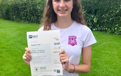 Congratulations to Sophie Hill on achieving her Level 1 Award